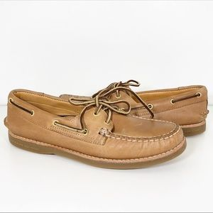 Sperry Top-Sider Gold Cup Tan Boat Shoes Size 9